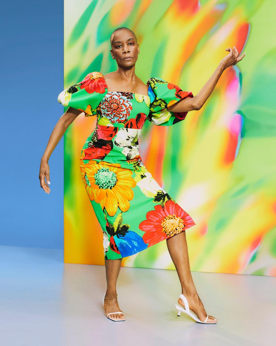 """<strong>Christopher John Rogers x Target </strong><br><br><strong>Christopher John Rogers x Target</strong> Floral Puff Sleeve Dress, $, available at <a href=""""https://go.skimresources.com/?id=30283X879131&url=https%3A%2F%2Fgoto.target.com%2Fa1OEGo"""" rel=""""nofollow noopener"""" target=""""_blank"""" data-ylk=""""slk:Target"""" class=""""link rapid-noclick-resp"""">Target</a>"""