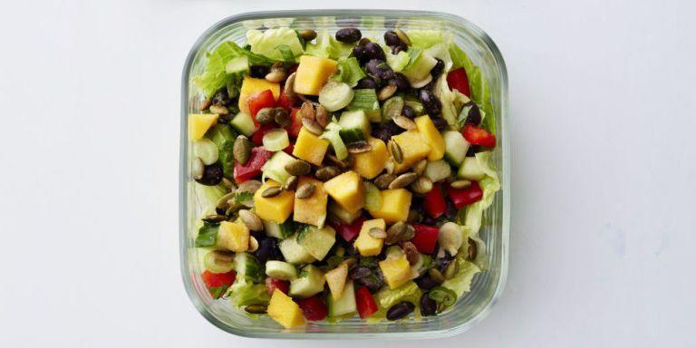 """<p>A little sweetness, a little spice, and plenty of crunch make this salad a healthy lunch hero.</p><p><em><a href=""""https://www.goodhousekeeping.com/food-recipes/healthy/a47223/pepper-black-bean-salad-with-citrus-dressing-recipe/"""" rel=""""nofollow noopener"""" target=""""_blank"""" data-ylk=""""slk:Get the recipe for Pepper and Black Bean Salad with Citrus Dressing »"""" class=""""link rapid-noclick-resp"""">Get the recipe for Pepper and Black Bean Salad with Citrus Dressing »</a></em></p>"""