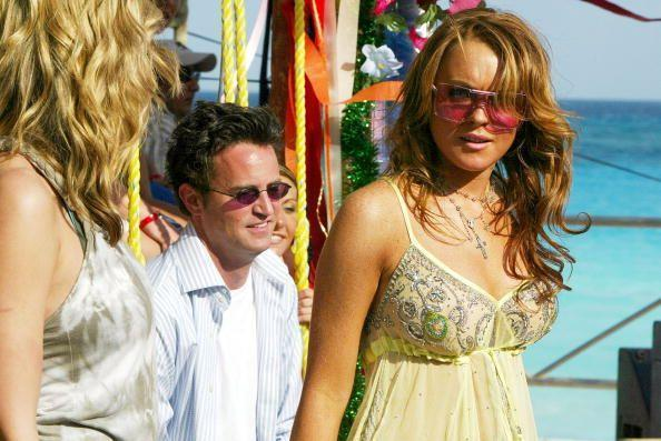 <p>Lindsey Lohan and Matthew Perry in Cancun, Mexico.</p><p>Other celebrity visitors this year: Vanessa Millino, Damien Fahey.</p>