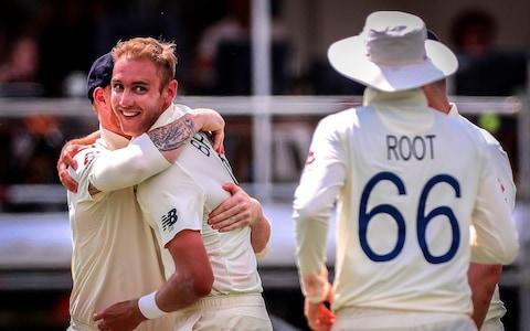 <span>Stuart Broad took four of England's wickets</span> <span>Credit: GETTY IMAGES </span>