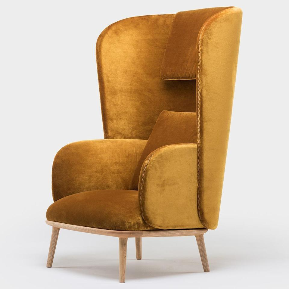 """<p><strong>Luca Nichetto</strong></p><p>thefutureperfect.com</p><p><strong>$5820.00</strong></p><p><a href=""""https://www.thefutureperfect.com/product/furniture/seating/blanche-bergere/"""" rel=""""nofollow noopener"""" target=""""_blank"""" data-ylk=""""slk:Shop Now"""" class=""""link rapid-noclick-resp"""">Shop Now</a></p><p>This wraparound reading chair scores extra points for its layers of lushly upholstered shells.</p>"""