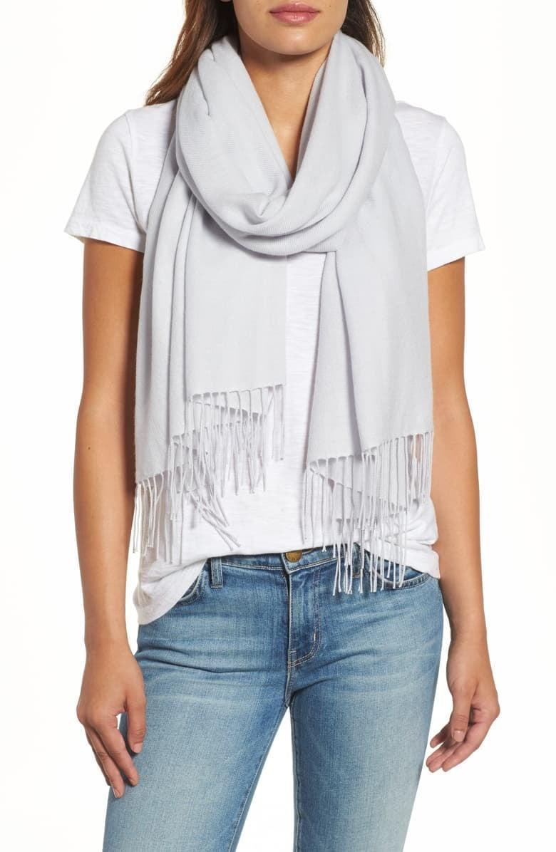 <p>Everyone could use one of these <span>Nordstrom Tissue Weight Wool & Cashmere Scarves</span> ($99).</p>