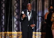 """<p>On that note: <em>A Soldier's Play</em> director <a href=""""https://ew.com/tag/kenny-leon/"""" rel=""""nofollow noopener"""" target=""""_blank"""" data-ylk=""""slk:Kenny Leon"""" class=""""link rapid-noclick-resp"""">Kenny Leon</a> used his Best Revival of a Play acceptance speech to honor victims of police brutality — """"Breonna Taylor, Breonna Taylor, Breonna Taylor; George Floyd, George Floyd,"""" Leon began. """"We will never, ever forget you,"""" he added, also including <a href=""""https://ew.com/tag/kobe-bryant/"""" rel=""""nofollow noopener"""" target=""""_blank"""" data-ylk=""""slk:Kobe Bryant"""" class=""""link rapid-noclick-resp"""">Kobe Bryant</a> and his daughter Gianna, who died in the same helicopter crash last year, in the memorial. """"All lives are precious,"""" Leon continued. Like several other winners, he also called for greater representation in theater, saying, """"No dis to Shakespeare, no dis to Ibsen, to Chekhov, to Shaw; they're all at the table. But the table got to be bigger."""" In a night filled with above-average speeches, Leon's was quite possibly the high point.</p>"""