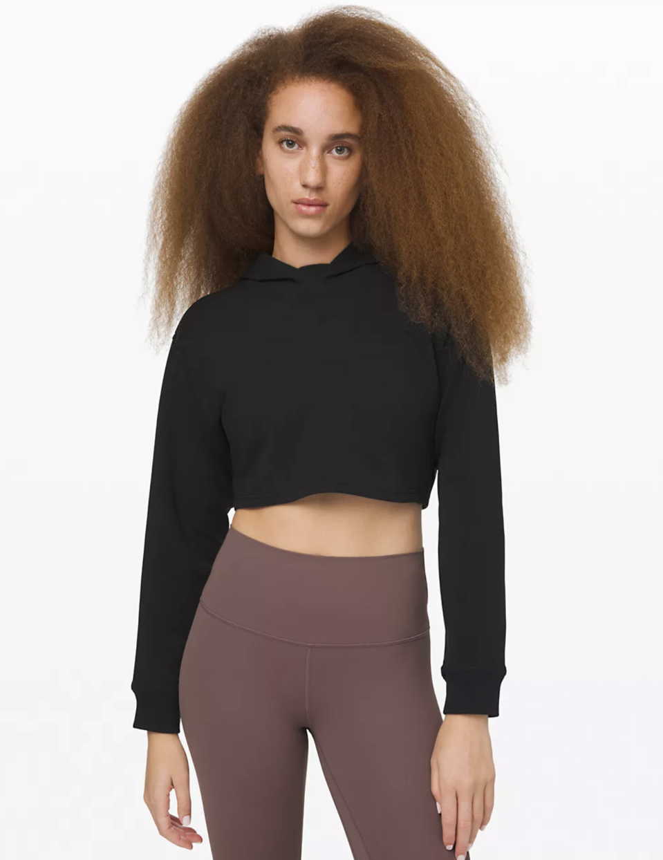"""<p><strong>Lululemon</strong></p><p>lululemon.com</p><p><a href=""""https://go.redirectingat.com?id=74968X1596630&url=https%3A%2F%2Fshop.lululemon.com%2Fp%2Fwomens-outerwear%2FLA-All-Yours-Cropped-Hoodie-MD%2F_%2Fprod10300086%3Fcolor%3D0001&sref=https%3A%2F%2Fwww.seventeen.com%2Ffashion%2Fg30519407%2Fdoes-lululemon-have-sales%2F"""" rel=""""nofollow noopener"""" target=""""_blank"""" data-ylk=""""slk:Shop Now"""" class=""""link rapid-noclick-resp"""">Shop Now</a></p><p><strong><strong><del>$98</del> $74 (25% off)</strong></strong></p><p>Meet your new go-everywhere crop top. She's a minimalistic little beauty that'll work with every pair of pants you own.</p>"""