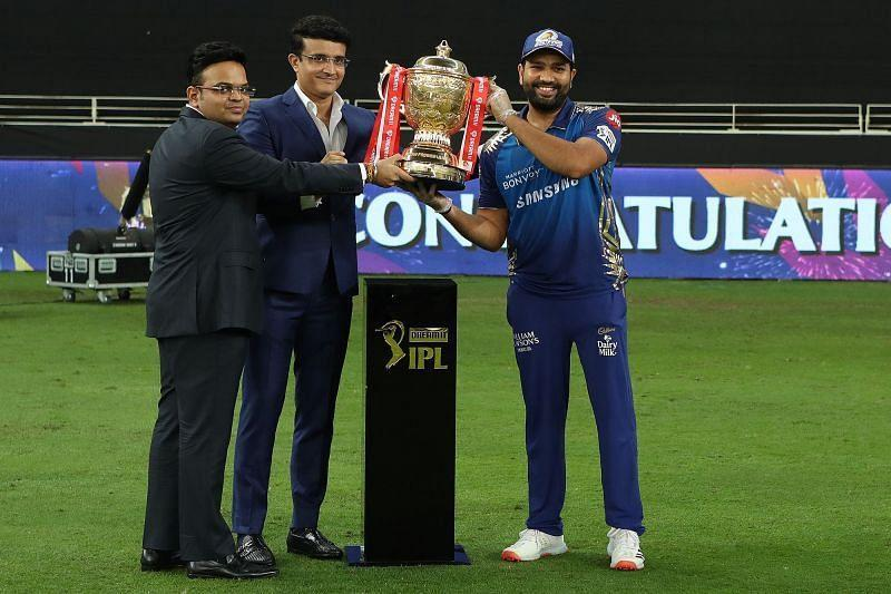 Rohit Sharma after leading MI to their second consecutive IPL title. (Credits: IPLT20.com)
