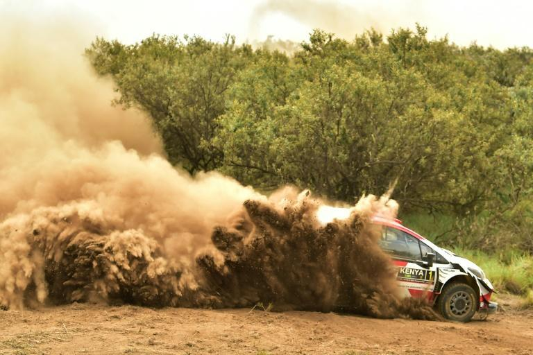 Seven-time champion Sebastien Ogier battled back to stand fourth overnight in his Toyota Yaris