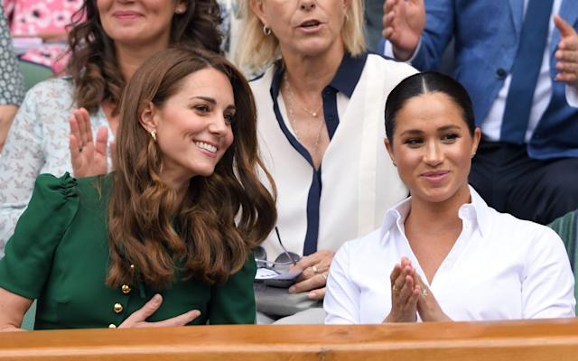 The Duchess of Cambridge and Duchess of Sussex at Wimbledon - Getty Images Europe