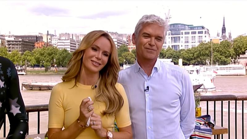 Amanda Holden used to cover for regular presenter Holly Willoughby on 'This Morning'. (ITV/YouTube)