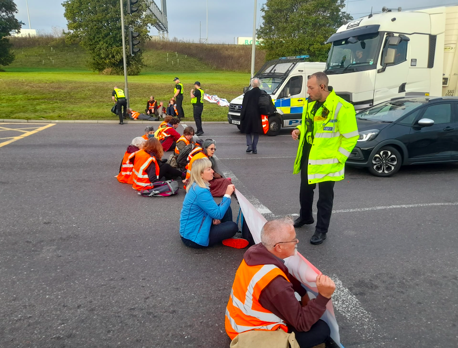 Essex Police arrived at the scene after fights broke out between protesters and drivers. (PA)