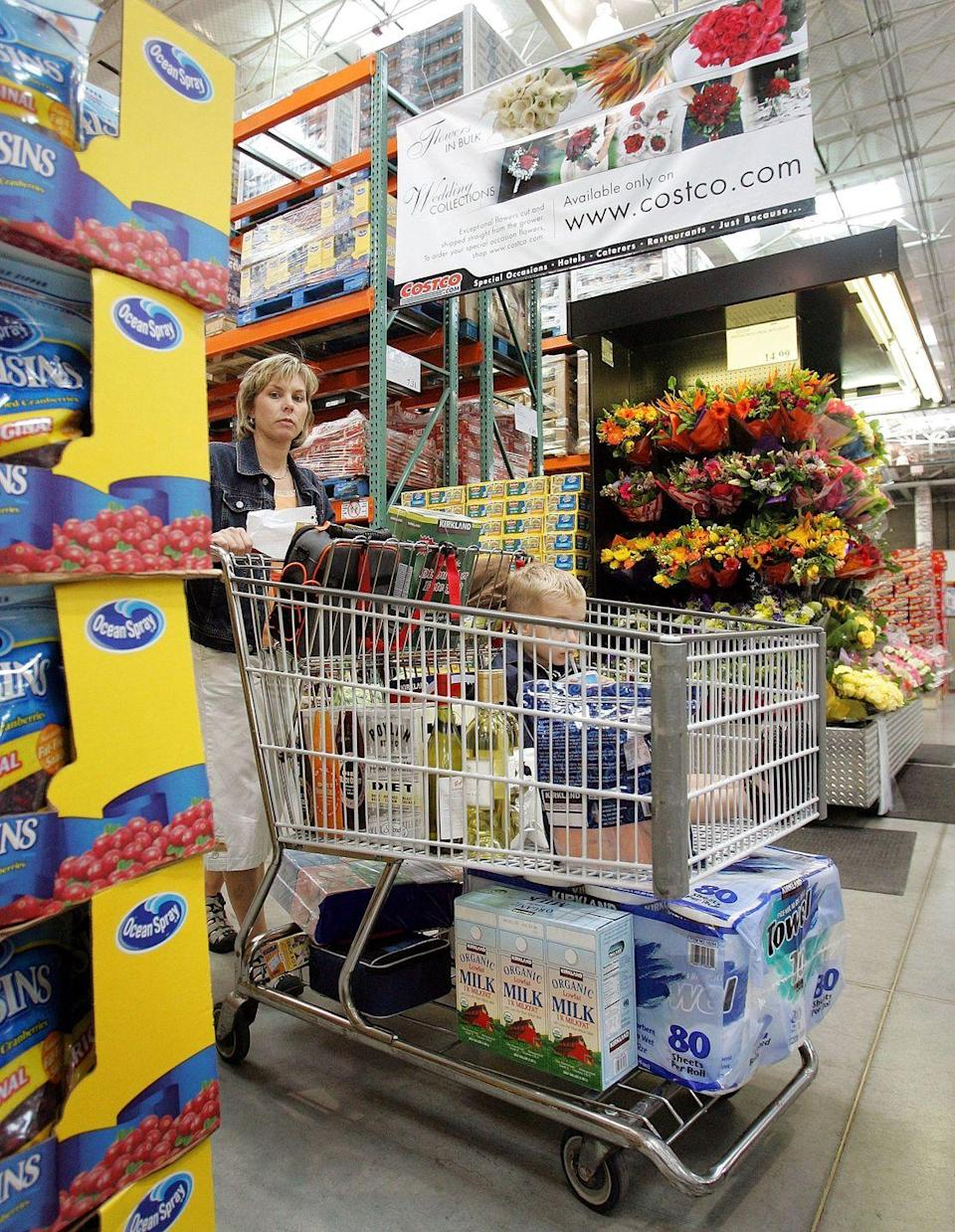 """<p>Whether the bouquet is for you or to perk up a party, take a swing by the floral department to see what's in store. The warehouse store delivers big bargains on bulk <a href=""""https://www.costco.com/floral.html"""" rel=""""nofollow noopener"""" target=""""_blank"""" data-ylk=""""slk:flowers, arrangements and centerpieces"""" class=""""link rapid-noclick-resp"""">flowers, arrangements and centerpieces</a>.</p>"""