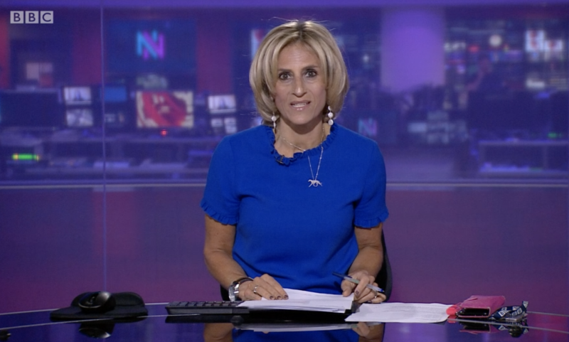 Emily Maitlis on the 3 June episode of Newsnight which prompted claims of anti-government bias. (BBC)