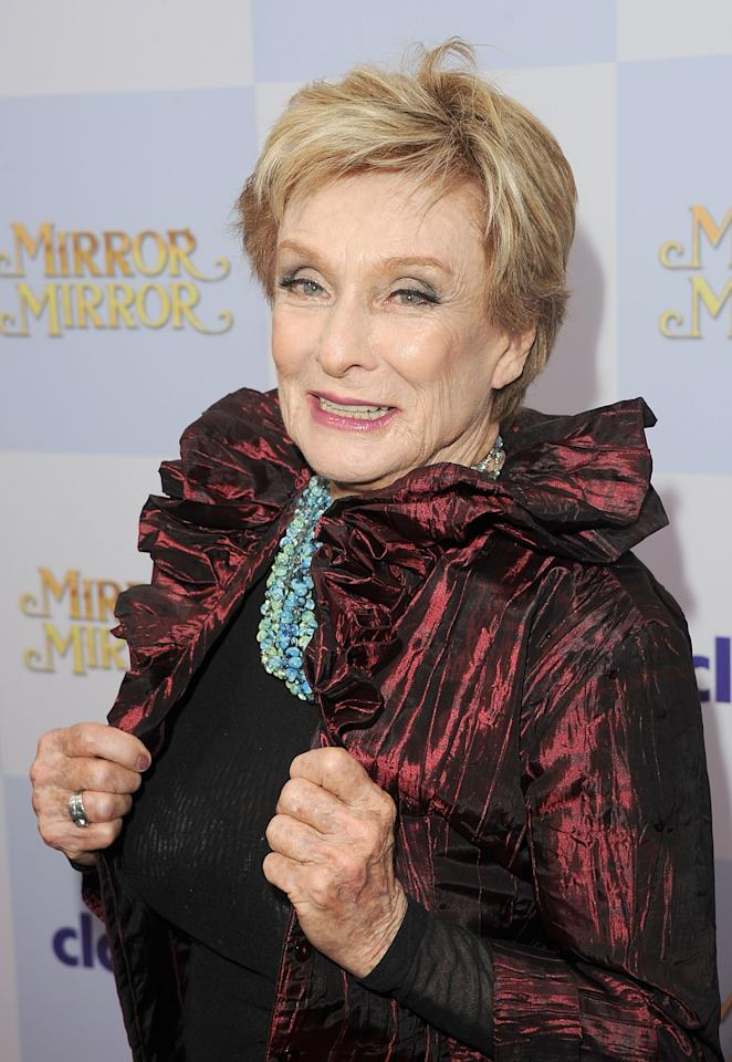 HOLLYWOOD, CA - MARCH 17:  Actress Cloris Leachman attends the 'Mirror Mirror' premiere at Grauman's Chinese Theatre on March 17, 2012 in Hollywood, California.  (Photo by Jason Merritt/Getty Images)