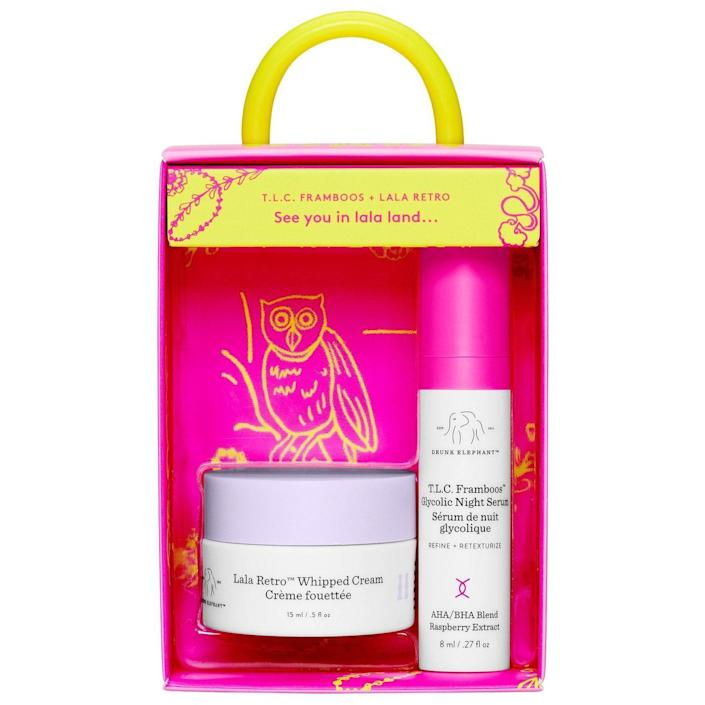 """<p><strong>Drunk Elephant</strong></p><p>sephora.com</p><p><strong>$28.00</strong></p><p><a href=""""https://go.redirectingat.com?id=74968X1596630&url=https%3A%2F%2Fwww.sephora.com%2Fproduct%2Fdrunk-elephant-call-it-night-glycolic-serum-moisturizer-duo-P471761&sref=https%3A%2F%2Fwww.townandcountrymag.com%2Fstyle%2Fbeauty-products%2Fg37103168%2Fthe-weekly-covet-july-23-2021%2F"""" rel=""""nofollow noopener"""" target=""""_blank"""" data-ylk=""""slk:Shop Now"""" class=""""link rapid-noclick-resp"""">Shop Now</a></p><p>""""Now that travel is possible again, and I have a few trips on the horizon, I'm stocking on mini-sizes of my go-to products. This set from Drunk Elephant includes two of my favorites: their perfect light-weight moisturizer, and a gentle exfoliating serum to help take the day off.""""—<em>Caroline Hallemann, Digital News Director</em></p>"""
