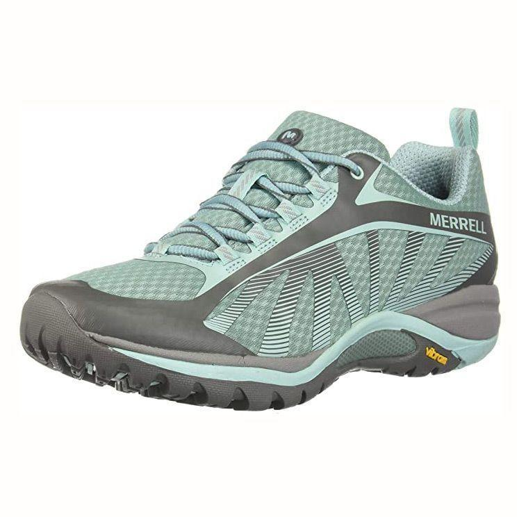 """<p><strong>Merrell</strong></p><p>amazon.com</p><p><strong>89.95</strong></p><p><a href=""""https://www.amazon.com/dp/B074HTHL7R?tag=syn-yahoo-20&ascsubtag=%5Bartid%7C10055.g.33264582%5Bsrc%7Cyahoo-us"""" rel=""""nofollow noopener"""" target=""""_blank"""" data-ylk=""""slk:Shop Now"""" class=""""link rapid-noclick-resp"""">Shop Now</a></p><p>Merrell <a href=""""https://www.goodhousekeeping.com/health-products/a25012850/best-hiking-boots-for-women/"""" rel=""""nofollow noopener"""" target=""""_blank"""" data-ylk=""""slk:hiking shoes"""" class=""""link rapid-noclick-resp"""">hiking shoes</a> aced our tests for having <strong>excellent traction and stability</strong>, according to testers. This pick has an EVA contoured footbed to keep your foot secure to prevent foot pain and strain after a day on the trails. The breathable mesh fabric keeps your feet dry and cool. With thousands of rave Amazon reviews, many wear these shoes on hiking adventures, international vacations and more. </p>"""