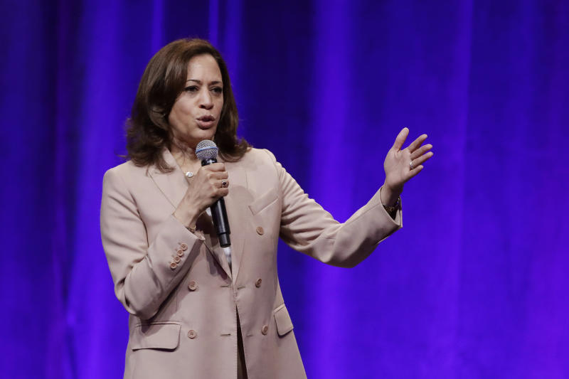 Democratic presidential candidate Sen. Kamala Harris, D-Calif., speaks during the National Urban League conference in July in Indianapolis. (Photo: Darron Cummings/AP)