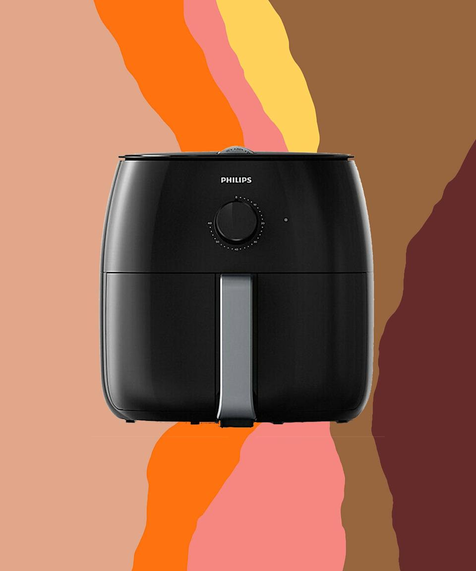 "<br><br><strong>Philips</strong> Airfryer XXL, $, available at <a href=""https://go.skimresources.com/?id=30283X879131&url=https%3A%2F%2Fwww.ebay.com%2Fitm%2FPhilips-Premium-Airfryer-XXL-w-Fat-Removal-Technology-Black-Silver-HD9630-98%2F174429307024"" rel=""nofollow noopener"" target=""_blank"" data-ylk=""slk:eBay"" class=""link rapid-noclick-resp"">eBay</a>"