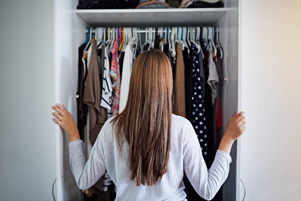 """Stylists say many clients are saying """"nothing fits!"""" as they return to the office. Here's the advice they give them. (Photo: kupicoo via Getty Images)"""