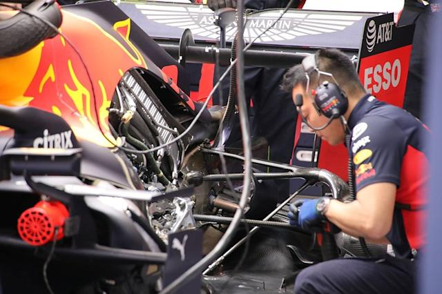 "Motor del Red Bull Racing RB16 <span class=""copyright"">Giorgio Piola</span>"