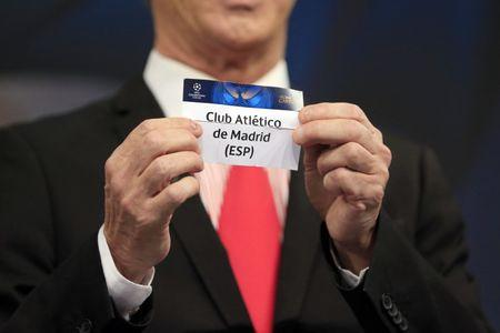 Football Soccer - UEFA Champions League Semi-Final Draw - Nyon, Switzerland - 21/4/17 Final Ambassador Ian Rush holds the name of Atletico Madrid during the draw of the UEFA Champions League semi-finals Reuters / Pierre Albouy Livepic