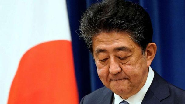 PHOTO: Japanese Prime Minister Shinzo Abe reacts during a news conference at the prime minister's official residence in Tokyo, Japan, August 28, 2020. (Pool/Reuters)