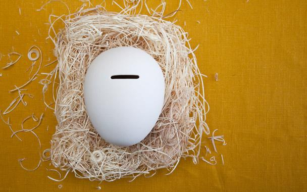 Like an old-fashioned piggy bank, the porcelain Nest Egg by Cor Unum helps you spend mindfully: It has a coin slot for inserting your savings but has to be destroyed when you're ready to make a withdrawal. ($36; blackinkboston.com)