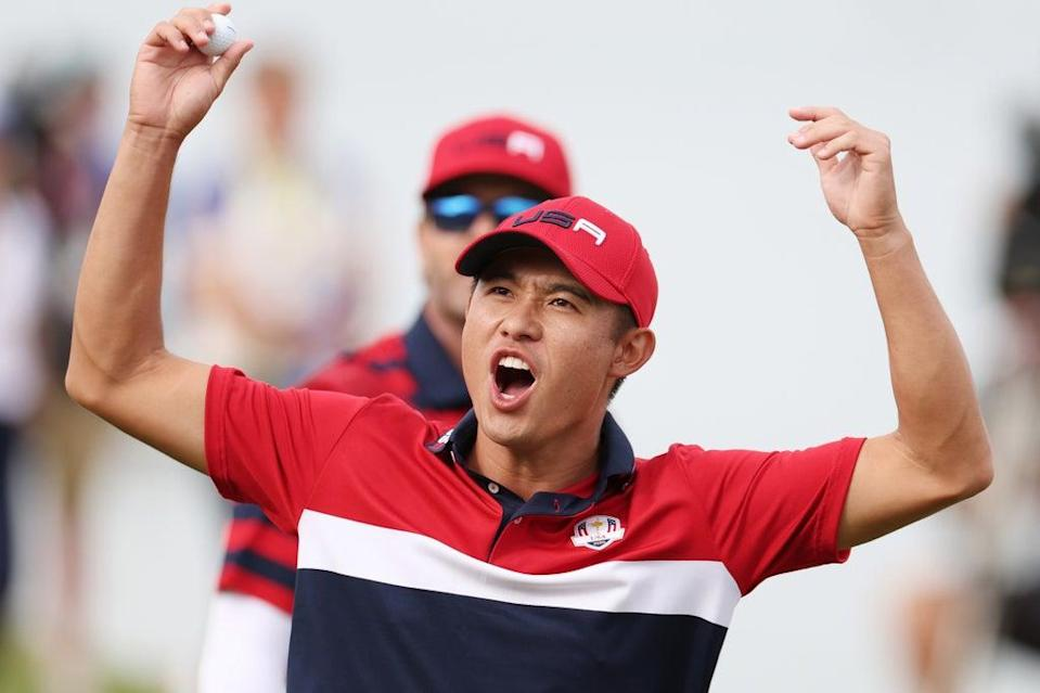 Collin Morikawa's half-point in the singles clinched the USA's Ryder Cup triumph  (Getty Images)