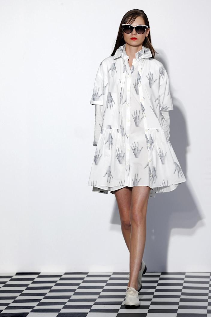 The long shirt is the key piece of the Dévastée SS15 collection.