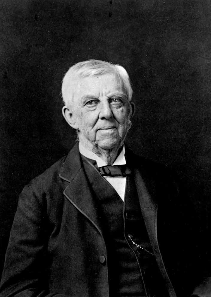 """Oliver Wendell Holmes, pictured in 1870, was a physician and poet. <span class=""""copyright"""">(Library of Congress / Corbis / VCG via Getty Images)</span>"""