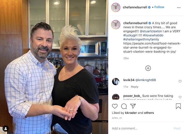 anne burrell engagement ring