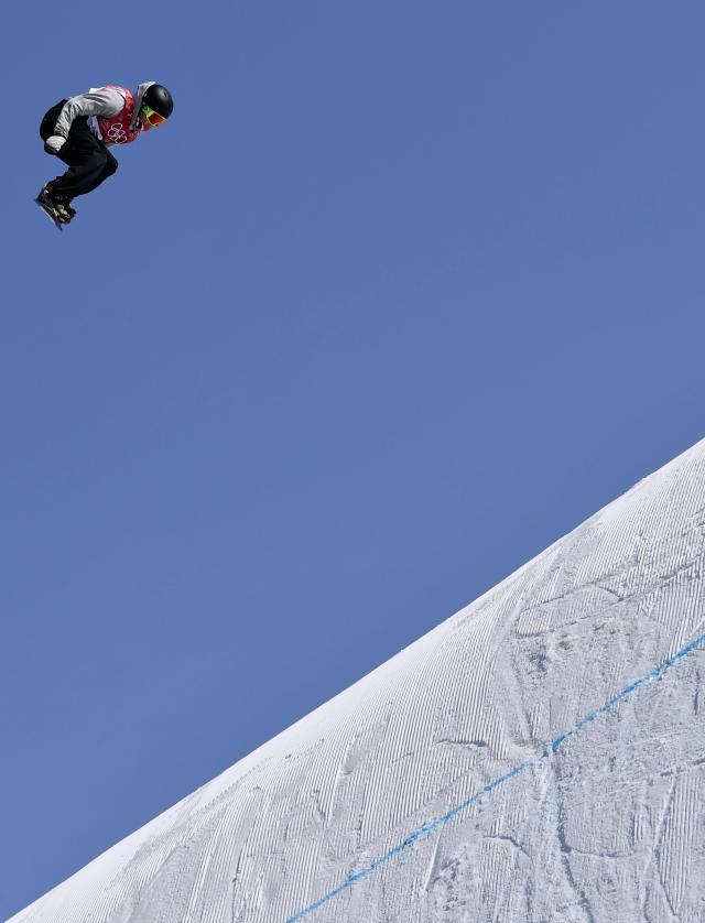 Snowboarding - Pyeongchang 2018 Winter Olympics - Men's Big Air Qualifications - Alpensia Ski Jumping Centre - Pyeongchang, South Korea - February 21, 2018 - Staale Sandbech of Norway competes. REUTERS/Toby Melville