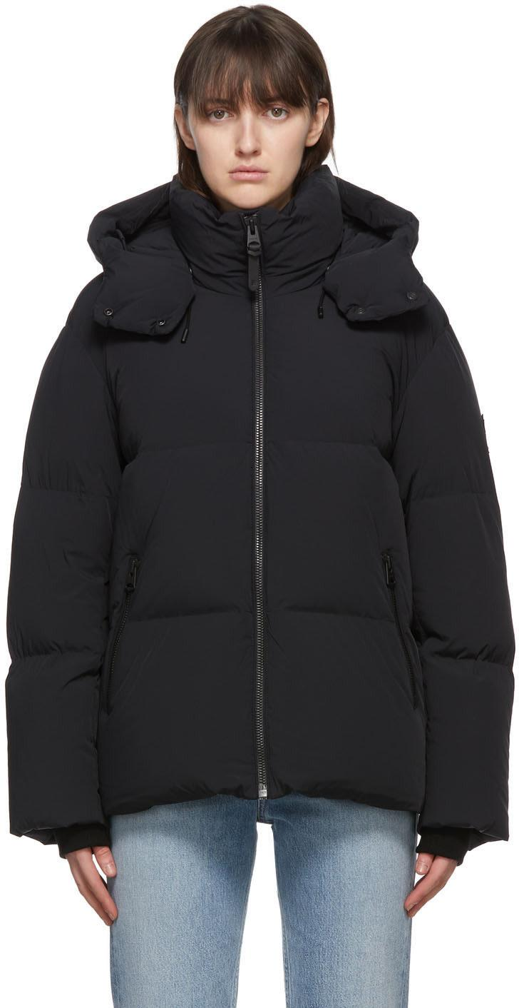Mackage Black Down Shani Coat. Image via SSENSE.