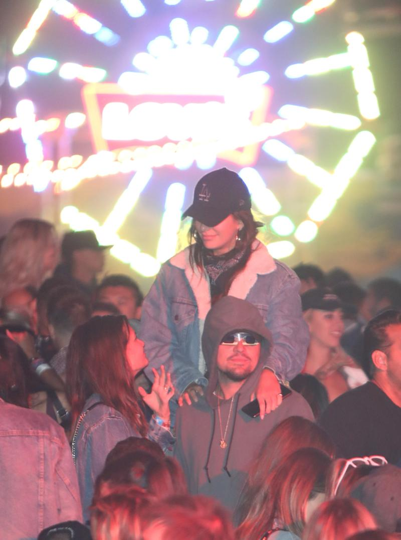 Leonardo DiCaprio attends The Levi's Brand Presents NEON CARNIVAL with Tequila Don Julio on April 14, 2018 in Thermal, California. (Photo by Cassidy Sparrow/WireImage)