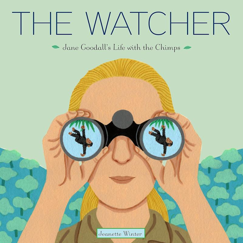 "This picture book biography traces Jane Goodall's life from her childhood in the U.K. to her years studying chimpanzees in Tanzania to her environmental advocacy. <i>(Available <a href=""https://www.amazon.com/Watcher-Jane-Goodalls-Life-Chimps/dp/0375867740"" target=""_blank"" rel=""noopener noreferrer"">here</a>)</i>"