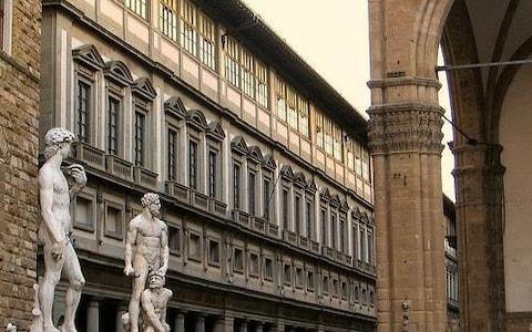 The Uffizi art gallery in Florence; Italy has become like a museum, frozen in time and incapable of reform