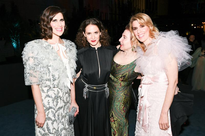 Laura Mulleavy, Sara Moonves, Lynn Hirschberg and Kate Mulleavy at the 2019 LACMA Art + Film Gala in Los Angeles on November 2, 2019. Photo courtesy of BFA.