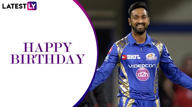 Happy Birthday Krunal Pandya: A Look at Some Brilliant Performances by Mumbai Indians' All-Rounder
