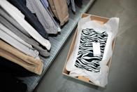 """""""The zebra print t-shirt I bought at Plastic Club co-founder Lino Nisi's store Crazy Boy in December 1978."""""""