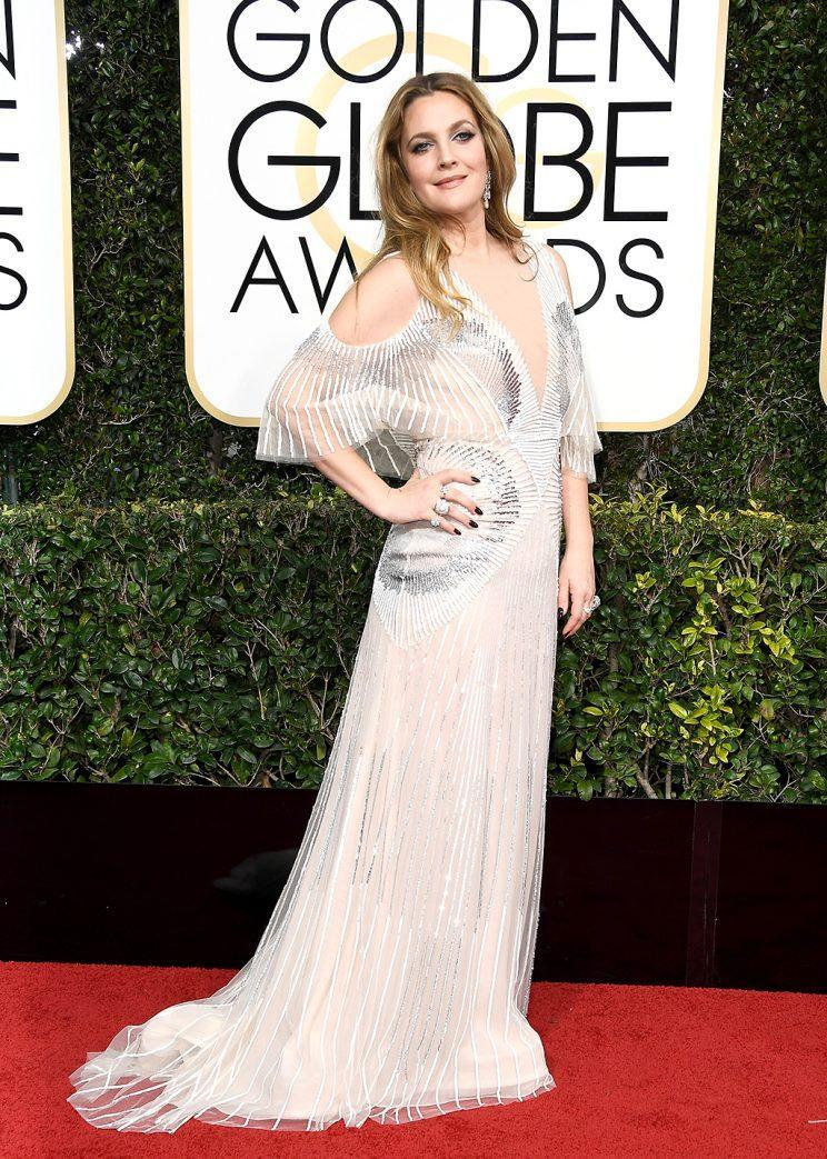Actress Drew Barrymore attends the 74th Annual Golden Globe Awards at The Beverly Hilton Hotel on January 8, 2017 in Beverly Hills, California. (Photo by Frazer Harrison/Getty Images)