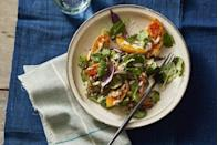 """<p>Roasted butternut squash gives this vegetarian recipe heft, while creamy tahini gives it richness. Top tip: you can use any kind of squash you like in this recipe, delicata or acorn are also great options!</p><p><em><a href=""""https://www.goodhousekeeping.com/food-recipes/healthy/a30173718/roasted-butternut-squash-salad-recipe/"""" rel=""""nofollow noopener"""" target=""""_blank"""" data-ylk=""""slk:Get the recipe for Roasted Butternut Squash Salad With Tahini Vinaigrette »"""" class=""""link rapid-noclick-resp"""">Get the recipe for Roasted Butternut Squash Salad With Tahini Vinaigrette »</a></em></p><p><strong>RELATED: </strong><a href=""""https://www.goodhousekeeping.com/food-recipes/g4513/acorn-squash-recipes/"""" rel=""""nofollow noopener"""" target=""""_blank"""" data-ylk=""""slk:29 Irresistible Butternut Squash Recipes You Need to Make"""" class=""""link rapid-noclick-resp"""">29 Irresistible Butternut Squash Recipes You Need to Make</a><br></p>"""