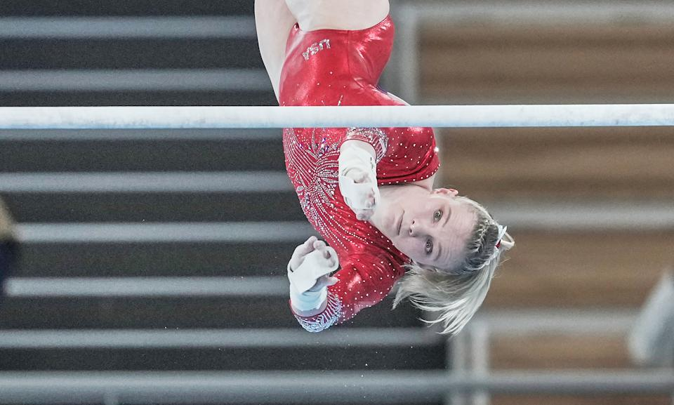 <p>Jade grew up around gymnastics. Her parents were both gymnasts and they owned a gym when she was born. Her father, Brian Carey, is still her main coach.</p>