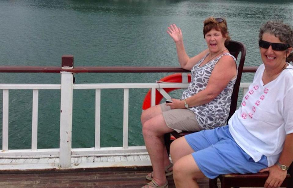 """Despite the """"crummy boat"""" Lynne Ryan and her friends enjoyed their month-long trip across Asia. Source: Facebook / Louise Ellings"""