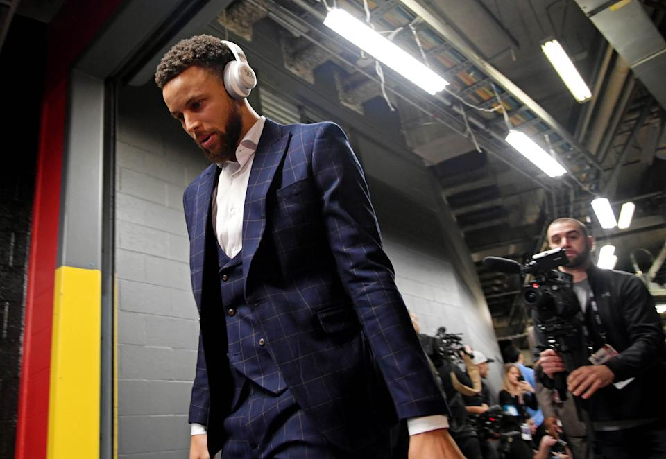 Jun 10, 2019; ToronaAfter a simple Daryl Morey tweet set off an international incident, normally vocal NBA figures continue to tread the China situation lightly. (Reuters)to, Ontario, CAN; Golden State Warriors guard Stephen Curry (30) enters the stadium before game five of the 2019 NBA Finals against the Toronto Raptors at Scotiabank Arena. Mandatory Credit: Nick Turchiaro-USA TODAY Sports