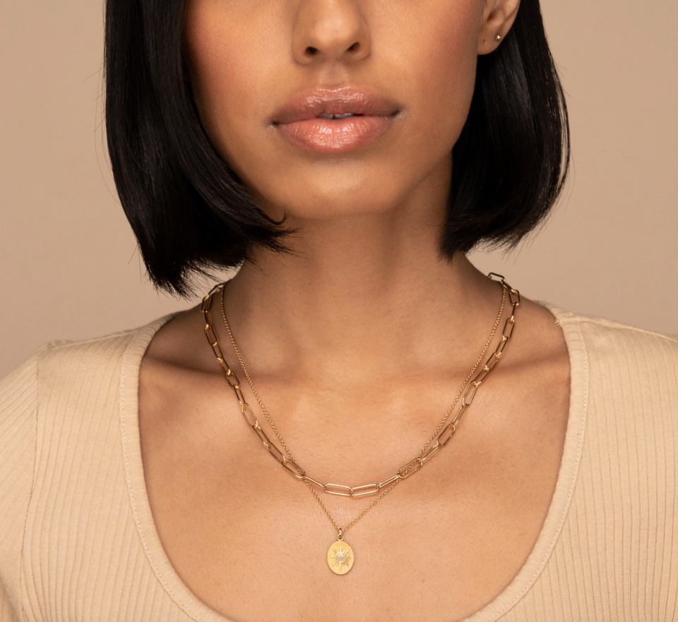 Bold Link Chain Necklace in Gold Vermeil (Photo via Mejuri)