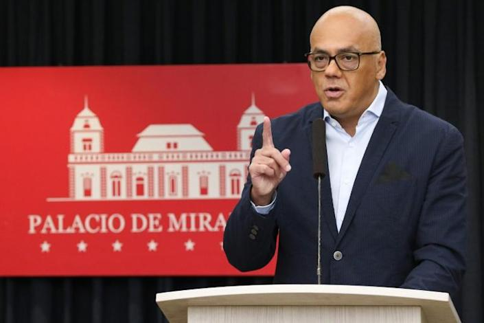 Communications Minister Jorge Rodriguez said the plot was to have been executed this past weekend (AFP Photo/HO)