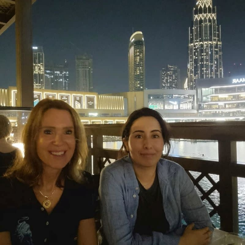 Sheikha Latifa, daughter of the ruler of Dubai, looks on in this undated picture obtained from social media, in Dubai