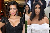 """<p>Before Kim and Kanye got together, the reality TV star was known for her glamorous, sexy looks. But her now-husband famously gave her a makeunder and turned her into a fashion icon. After she was robbed and <a href=""""https://www.redbookmag.com/body/a52466/kim-kardashian-let-cameras-film-her-having-a-panic-attack/"""" rel=""""nofollow noopener"""" target=""""_blank"""" data-ylk=""""slk:held at gunpoint in Paris in 2016"""" class=""""link rapid-noclick-resp"""">held at gunpoint in Paris in 2016</a>, she took another step back from the glitz, opting for a less flashy style.</p>"""