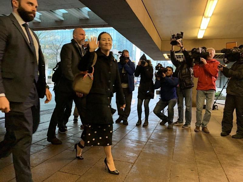 Meng Wanzhou arriving for court in Vancouver for her extradition hearing