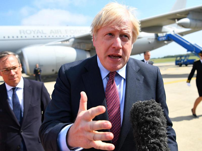 Boris Johnson expects talks with EU on the Irish backstop 'in the coming weeks' and returns Donald Tusk's warning of going down in history as 'Mr No-Deal Brexit': Getty
