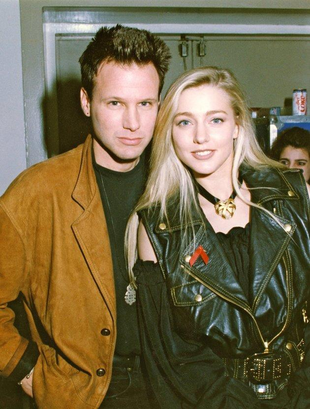 Corey Hart and his wife Julie Masse in the 90s.