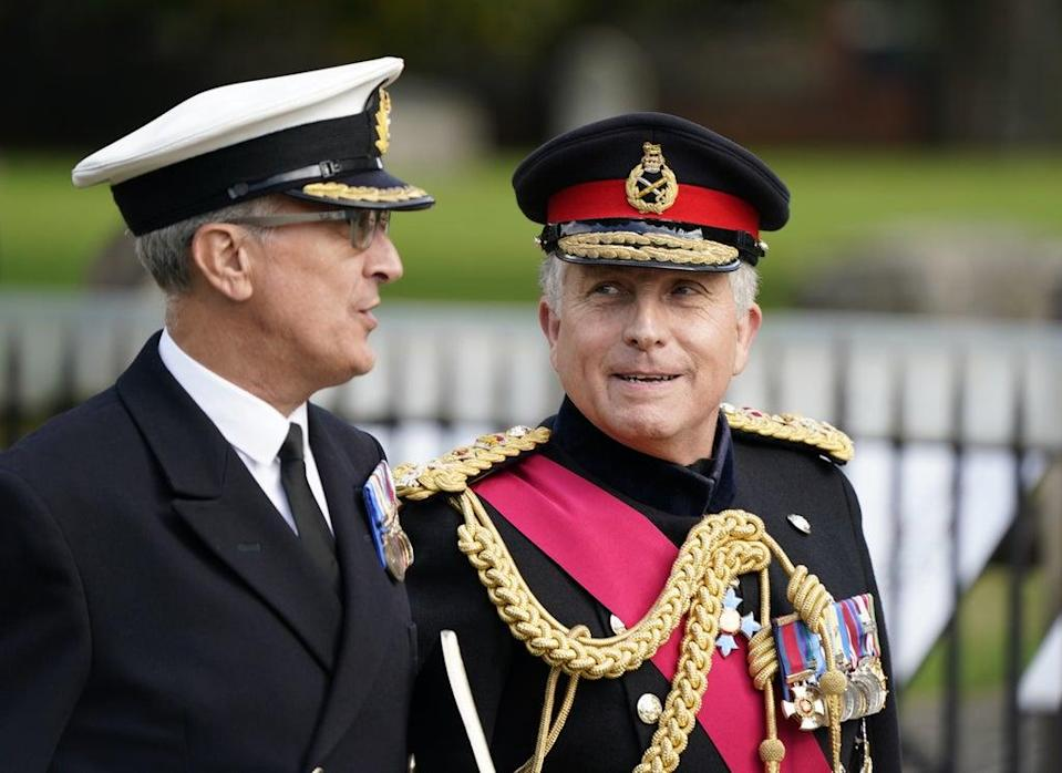 General Sir Nick Carter (right), the outgoing Chief of the Defence Staff (Andrew Matthews/PA) (PA Wire)